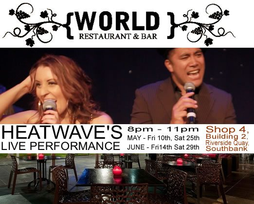 Heatwave's live gig this Friday!