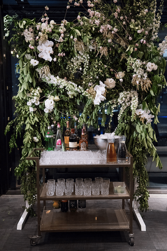 Whiskey Bar to die for! Wedding Florist Melbourne